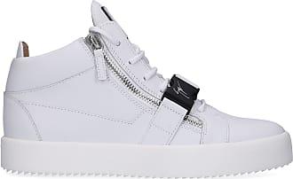 ea6d782b08e446 Giuseppe Zanotti Sneaker low MAY LOND Kalbsleder Logo Zierschnalle weiß