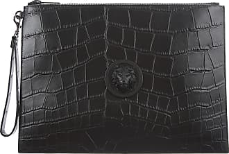 Versace Pouches On Sale in Outlet, Black, Embossed Leather, 2019, one size one size