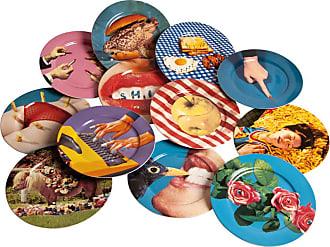 Seletti Ceramic Plates Toilet Paper Collezione di Piatti