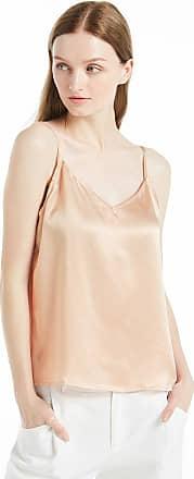 LilySilk Womens Silk Camisole Vest Lingerie Ladies Tank Top 22 Momme Charmeuse Silk (XXL/20-22, Light Camel)