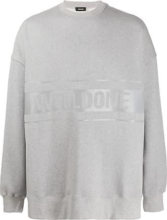 We11done Sweatshirt mit Logo-Print - Grau