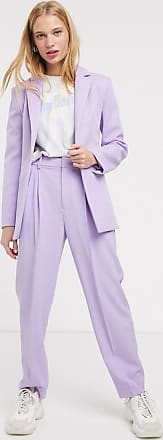 & Other Stories tapered straight leg trousers in lilac-Purple