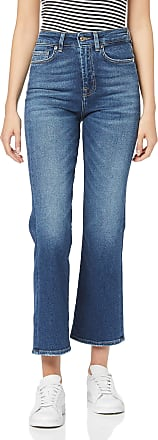 7 For All Mankind Womens Hw Vintage Cropped Boot Bootcut Jeans, Blue Mid Blue GL, 28W / 28L