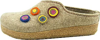 Haflinger Unisex Adults Grizzly Kanon Open Back Slippers, Brown (torf 550), 8.5 UK