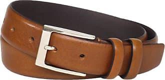 Florsheim Mens Italian Full Grain Leather Feather Edge 32mm, Cognac, 34
