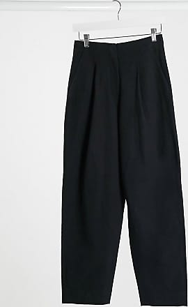 & Other Stories high-waisted ovoid trousers in black