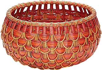 Dimond Home Small Fish Scale Basket In Red And Orange