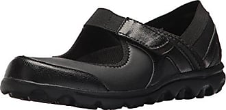 Propét Propet Womens Onalee Mary Jane Flat, All All Black Smooth, 8 Medium US