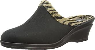 Rohde Halden, 238190, Womens Open Back Slippers, Black (90), 7.5 UK (41 EU)
