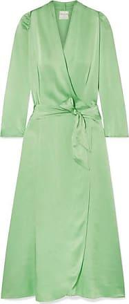 Forte_Forte Hammered Silk-satin Wrap Dress - Light green