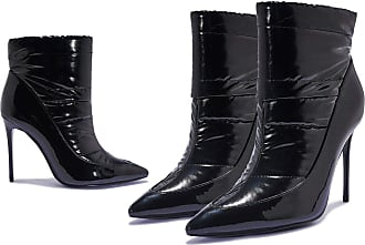 Truffle Truffle Womens Black Vegan High Heel Ankle Bubble Puffer Winter Boots - Black - UK 6