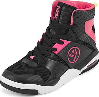 Zumba Air Classic Remix High Top Fitness Workout Dance Shoes for Women, Black 0, 7.5 UK