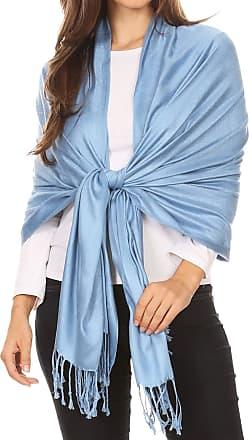 Sakkas 78 X 28 Rayon from Bamboo Soft Solid Pashmina Feel Shawl/Wrap/Stole - Babyblue
