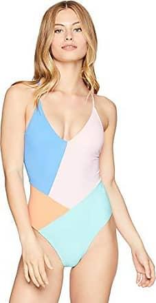 300554e2e9d53 Nanette Lepore Womens Color Block Strappy Back One Piece Swimsuit, Multi,  X-Small
