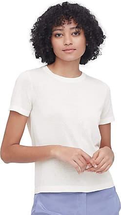 LilySilk Silk T Shirt for Ladies Short Sleeves Round Neck Silk All-Matching Elegant Shirt White Size M