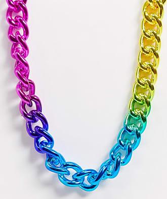 Topman X PRIDE - Catenina con maglie multicolori-Multicolore