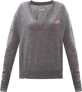 Zadig & Voltaire Patched Sweater Womens Grey