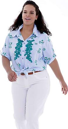 Vickttoria Vick Camisa Aniela Aplicação Plus Size (46)