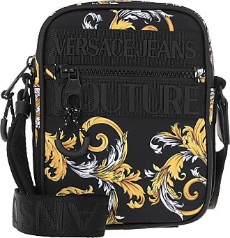 Versace Jeans Couture Mens Bags - Men Macrologo Crossbody Bag Black/Gold - black - Mens Bags for ladies