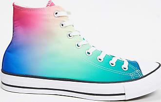 Converse Chuck Taylor All Star - Sneakers alte sfumate blu e rosa