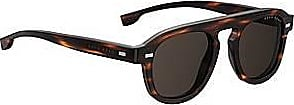 BOSS Vintage-style sunglasses in Havana acetate