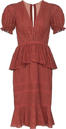 Johanna Ortiz Dandyism broderie-anglaise dress - Vermelho
