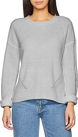 Pieces Womens Pcmarie Ls O-Neck Knit Noos Jumper, Grey (Light Grey Melange), 16 (Size: X-Large)