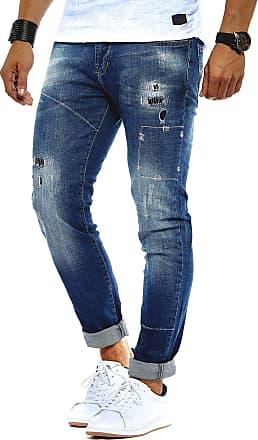 LEIF NELSON Mens Jeans Trousers Pants LN-9925 Blue W36/L32