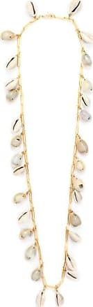 Timeless Pearly Shell And Gold-plated Chain Necklace - Womens - White