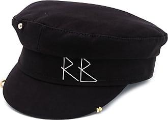 Ruslan Baginskiy embroidered logo baker boy hat - Preto