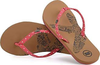 Urban Beach Ladies Penryn Comfort Flip Flops (Numeric_5) Red