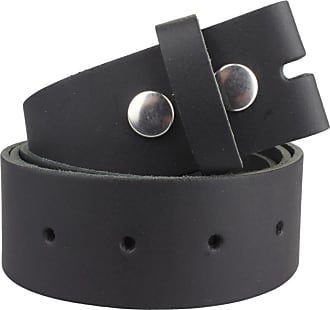 2Store24 Real Leather Snap on belt in black | Waist size 125cm