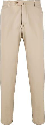 Incotex slim-fit tailored trousers - NEUTRALS