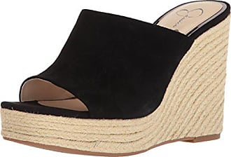 Jessica Simpson Womens SIRELLA Espadrille Wedge Sandal, Black, 11 Medium US