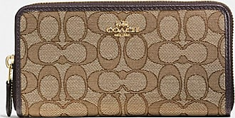 Coach Accordion Zip Wallet in Beige