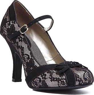 Ruby Shoo Womens Black Lace Cleo High Heel Mary Jane Shoes 42 UK 9