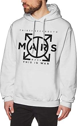 Not Applicable Clothing Mens Novelty Hoodies Activewear Top Hoodies Mens Hoody 30 Seconds to Mars Mens Long Sleeve Sweatshirts Mans Hoodies White