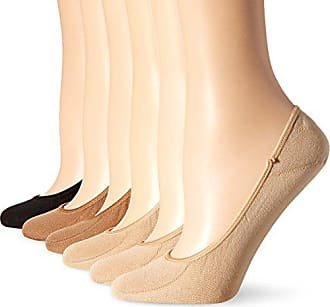 Hot Sox Womens 6 Pack Solid Invisible Liner Socks, Nude, Tan, Black, Shoe Size: 4-10