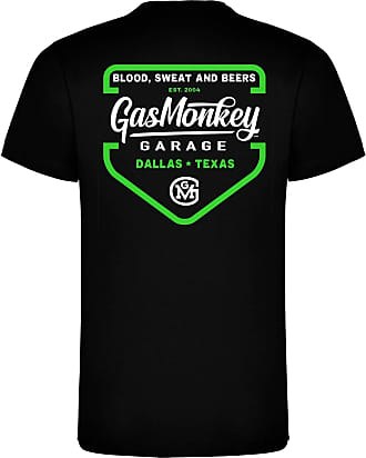 Gas Monkey Garage T-Shirt Green Shield Black-XXXL