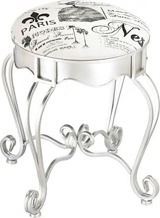 Zingz & Thingz Zingz and Thingz Pretty in Paris Metal Stool in Silver