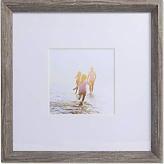 Lawrence Frames 5x5 Wide Border Matted Gallery Gray 10x10 Picture Frame