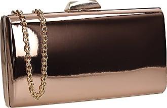 Swankyswans Finley Patent Leather Box Womens Wedding Clutch Bag Champagne  Gold 56007300b05b2