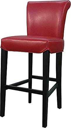 New Pacific Direct 148524-67 Bentley Bicast Leather Counter Bar & Counter Stools, Red