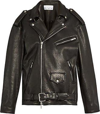 Raey Oversized Tumbled-leather Biker Jacket - Womens - Black
