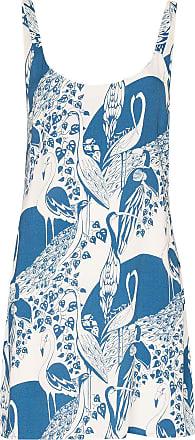 Reformation Vestido Puglia com estampa de flamingo - Azul