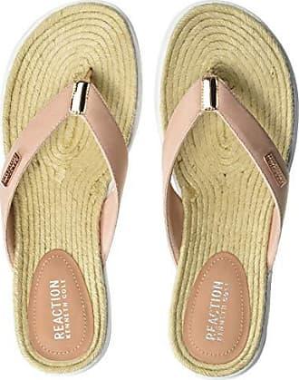 b4d2b035ad7e Kenneth Cole Reaction Women The Ready Thong Sport Sandal Espadrille Sock  Flip-Flop