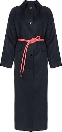 Kassl Editions Trench coat com cinto - Azul