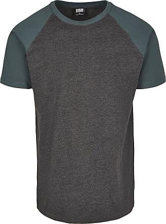 Urban Classics Raglan Contrast Tee - T-Shirt - charcoal, grün
