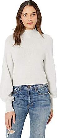 Bcbgmaxazria Womens Turtleneck Cropped Sweater, Light Dove L