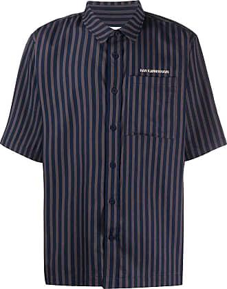 Han Kjobenhavn Camisa mangas curtas com listras - Azul